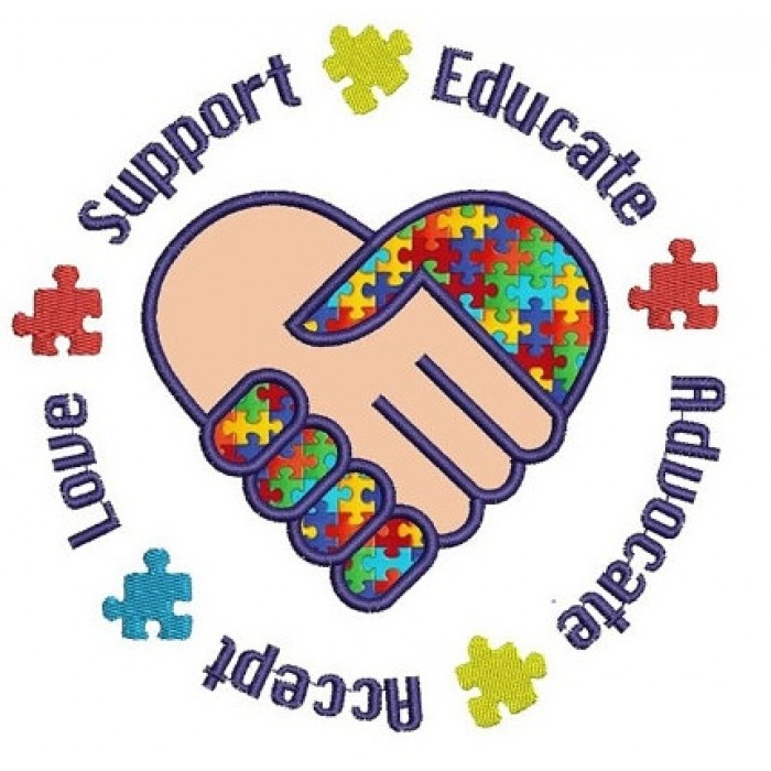 support educate advocate accept love autism awareness handprint clipart hand print clip art borders
